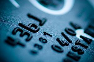 Närbild på kreditkort